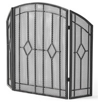 Gilmer 3-Panel Firescreen in Black and Silver