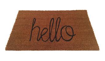 """""""Hello"""" Script Doormat, 18""""x30"""""""