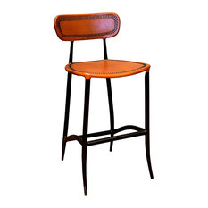Rocket Counter Stool, Apricot and Burnished Iron
