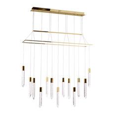 Visconte Krypto-Lampada 13-Light Bar Ceiling Pendant, Gold