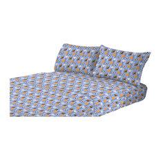 Kute Kids Super Soft Sheet Athletes Stripe Set, Blue, Full