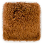 TOV Furniture - Tibetan Sheep Pillow, Copper - Our Tibetan sheep fur creates a fabulously plush, infinitely glam, superbly cozy pillow. Available in several colors and sizes, to fit any room's need and decor.