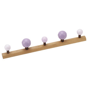 Romer Design EnKnag™ Coat Rack, Purple and Oak, Medium