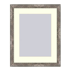 Crinkled Silver picture frame, Silver, 16x20