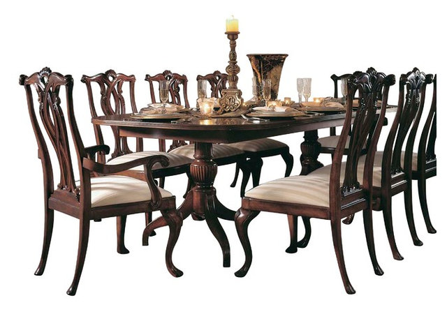 Delicieux American Drew Cherry Grove 7 Piece Dining Room Set In Antique Cherry