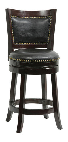 Dune Harris Memory Swivel Bar Stool Black Traditional Bar Stools And Counter Stools By Boraam Industries Inc