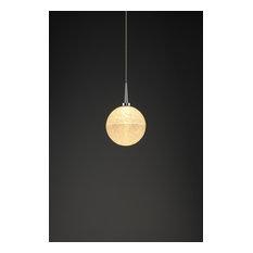 "Bruck Lighting 223890/MP Dazzle 1 Single Light 5"" Wide LED Mini Pendant with Cl"