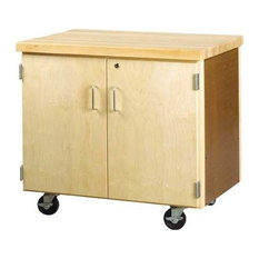 Shain - Mobile Storage Cabinet With 2-Doors - Office Carts and Stands