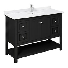 "Fresca Manchester 48"" Black Cabinet With Top and Sink"