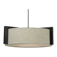 kenroy lighting teton 3light pendants in madera bronze pendant lighting - Drum Pendant Lighting