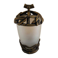 Bamboo Vanity Top Toothbrush holder, Antique Gold