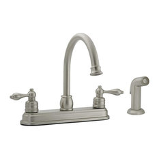 Arch Spout Kitchen Faucet With Side Spray, Brushed Nickel