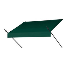 Contemporary Retractable Awning, Green, 72""