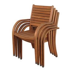 Arizona Stacking Armchairs, Set of 4