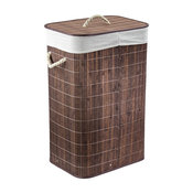 "Bamboo Laundry Hamper with Handles Espresso, 25.5""x16.5"""