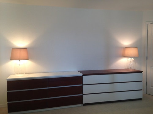 Beau Need Advice On Art, Lamps, Mirrors, And Hardware To Tie It All Together.  Bedroom Is All White With Antique Dark Wood 4 Poster Bed And Nightstands.