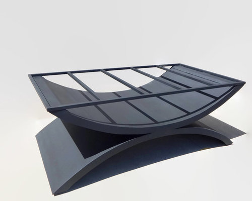 Double Arch Table Base For Granite Glass Or Wood Tops Bespoke - Welded table base
