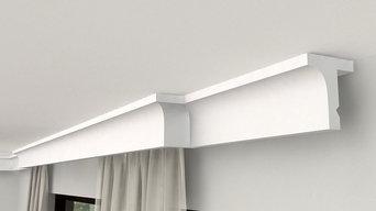 Gardinen Stuckleiste mit LED LKO1
