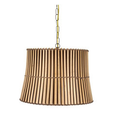 25 most popular asian lamp shades for 2018 houzz upgradelights all natural bamboo 16 drum portable swag lampshade lamp shades aloadofball Image collections