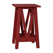 Farmhouse Side Table, Sun Valley Red