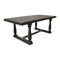 Katrina Weathered Gray Rectangular Dining Table