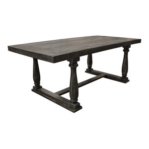 Katrina Weathered Gray Rectangular Dining Table