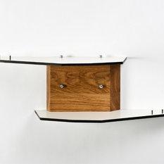 Rustikale wandregale wandkonsolen wandboards houzz - Rustikale wandregale ...