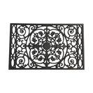 Powder-Coated Cast Iron Doormat, Textured Black