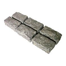 Belgian Block Granite Cobble Stones, Granite, Hand Cut, 4x8, 20 Sq. ft.