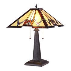 Chloe Lighting Geraint 2 Light Mission Table Lamp