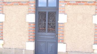 Portes d'entrée vitrées