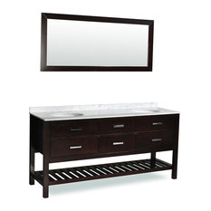 "Belmont decor ""Nautica"" Double Sink Bathroom Vanity"