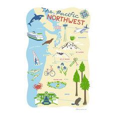 Pacific Northwest Region Kitchen Towel