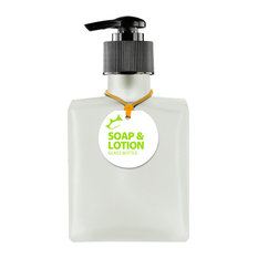 Couronne Co. Rio 5oz Recycled Glass Lotion or Soap Bottle, Frosted