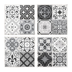 StickTILES Gray Spanish Mosaic Peel and Stick, Set of 4
