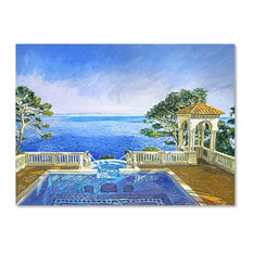 "David Lloyd Glover 'Cap Martin, Monaco' Canvas Art, 18""x24"""