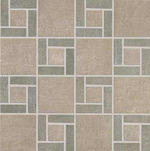 Fly Zone Fiber Porcelain Tile Series - Tortora with Salvia Mosaic - Wall And Floor Tile