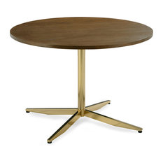Poly And Bark Geneva 43-inch Dining Table Walnut/Antique Brass