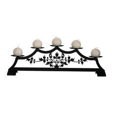 Victorian Fireplace Pillar Candleholder