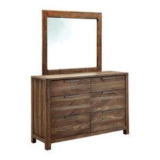 Morris Rustic Style Natural Tone 6-Drawer Dresser