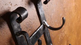 Hand Forged Iron Wall Wine Racks