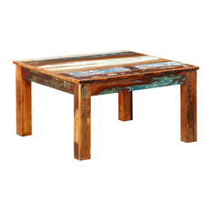 VidaXL   VidaXL Reclaimed Wood Coffee Table, Square Antique Style   Coffee  Tables