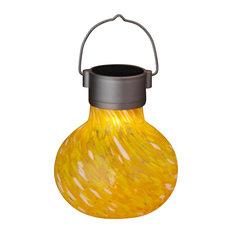 Solar Glass Tea Lantern, Saffron