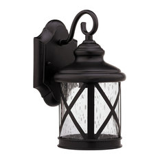 Milania Adora Transitional 1-Light Rubbed Bronze Outdoor Wall Sconce