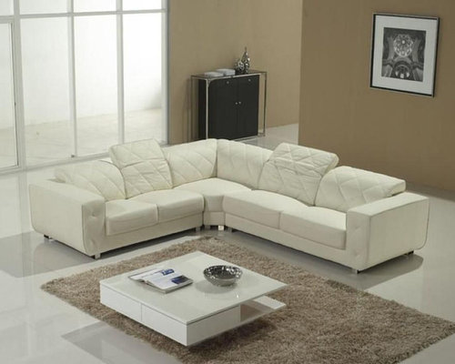 Advanced Adjustable Tufted Modern Leather L-shape Sectional - Sectional Sofas : l sectional couch - Sectionals, Sofas & Couches