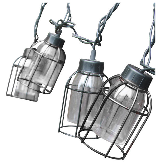 Vintage style cage string lights 10 count industrial outdoor vintage style cage string lights 10 count workwithnaturefo