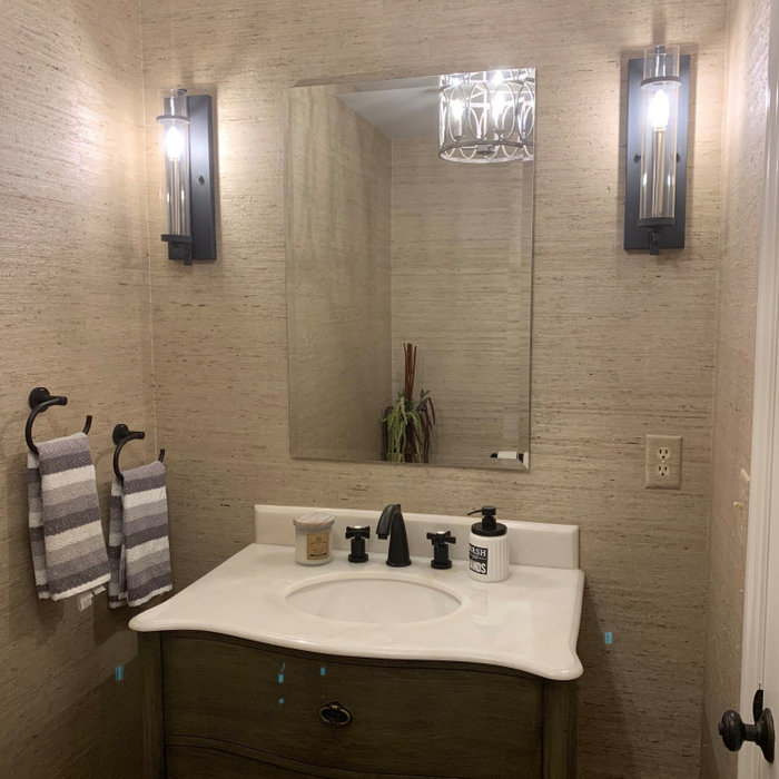 Traditional Elegant Powder Room