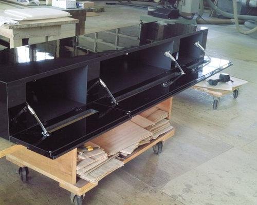 テレビボードの内部の確認 - リビング家具