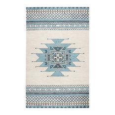 Rizzy Home - Rizzy Home 8'x10' Blue Tribal Area Rug - Area Rugs
