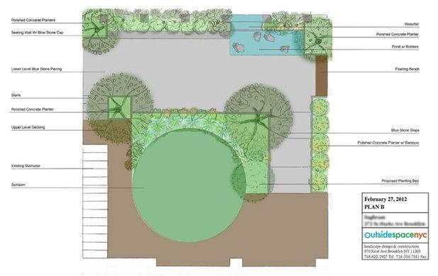 Современный План участка by Outside Space NYC Landscape Design